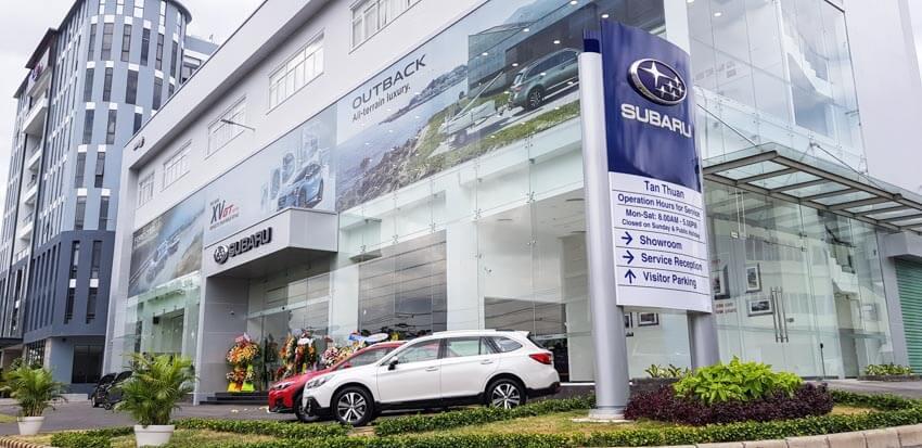 Subaru quận 7 trưng bày xe Forester Eyesight Thái Lan 6