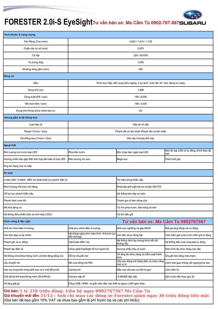 Subaru Forester 2020-2021 hay Honda CRV khi cầm 1 tỷ 3