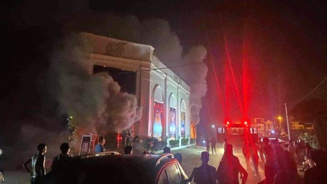 Quán bar ở tỉnh Vĩnh Phúc cháy khiến 3 nữ dancer tử vong 1