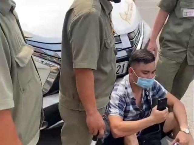 Lê Chí Thành lái xe ôtô vi phạm bị CSGT Rạch Chiếc tạm giữ xe 12